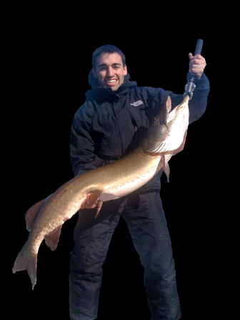 "Jim Piriano, client with 50"" musky"