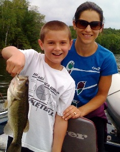 clients with Smallmouth Bass